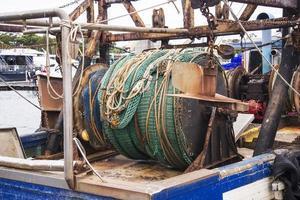 detail van de vissersboot foto
