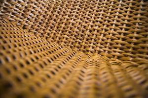 close-up detail van de rieten stoel