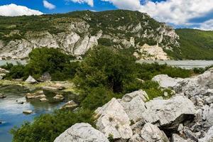 Donaukloof in Djerdap aan de Servisch-Roemeense grens foto