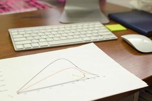 grafiek op een bureau