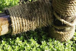 touw in de tuin