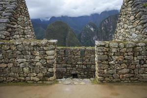 Machu Picchu-ruïnes in Peru foto