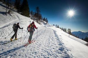 randonnee ski-pistes foto