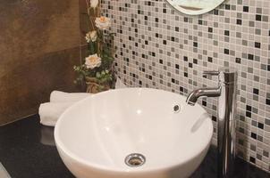 moderne badkamer wastafel foto