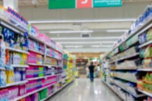 wazige supermarkt achtergrond foto