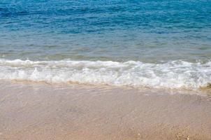 blauwe oceaangolven foto