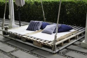 tuin pallet bed