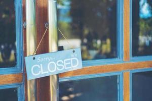 gesloten café teken foto
