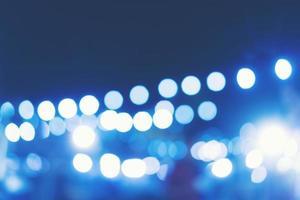 blauwe bokeh lichten foto