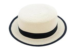 mooie strooien hoed geïsoleerd op een witte achtergrond