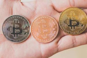 bitcoin-munten, digitaal valutaconcept