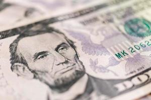 Amerikaanse dollarsbankbiljetten, commercieel en bancair concept