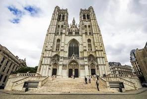 kathedraal van st. michael en st. gudula in brussel, belgië