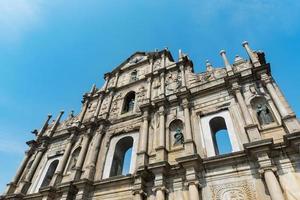 ruïnes van st. paul's kerk in macau foto