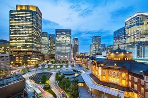 de stadshorizon van tokyo, japan. foto