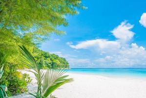 prachtige tropische strand achtergrond foto
