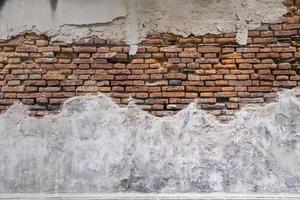 rustieke beton en bakstenen muur foto