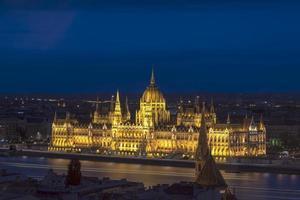 nachtlandschap van het Hongaarse parlement
