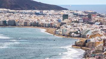 stadslandschap van de stad Las Palmas, Gran Canaria foto