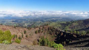 vulkaan bovenop gran canaria foto