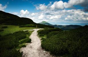 zadel in de hoge bergen foto