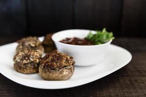champignons met vlees foto