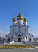 kathedraal van de heilige drie-eenheid in petropavlovsk-kamchatsky, rusland foto