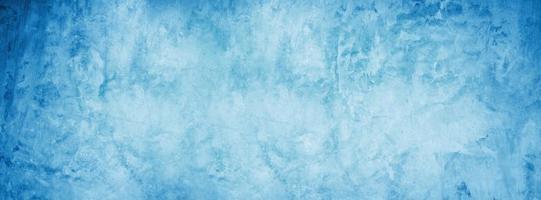 blauwe cement en grunge textuur achtergrond, horizontale lege betonnen wand foto