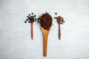 gemalen koffie concept foto