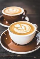 latte koffiekopje foto