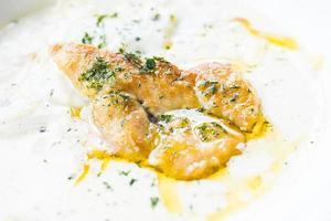 foie gras met penne roomsaus