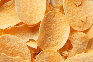 close-up van op smaak gebrachte aardappelchips