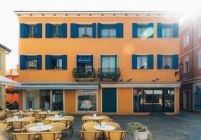 Caorle, Italië 2017- toeristisch district van de oude provinciestad Caorle in Italië