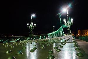 oude ijzeren brug over de Donau in Boedapest