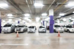 abstracte onscherpte parkeerplaats