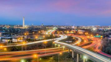 washington, dc skyline van de stad foto