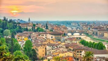 Florence stad skyline van de binnenstad stadsgezicht van Italië foto