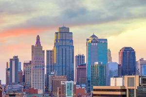 uitzicht op de skyline van Kansas City in Missouri