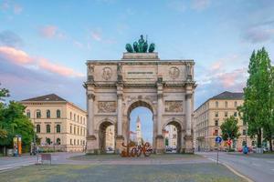 siegestor triomfboog, münchen, duitsland