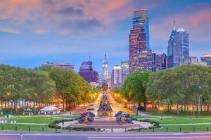 stadsgezicht van de skyline van de binnenstad van Philadelphia in Pennsylvania