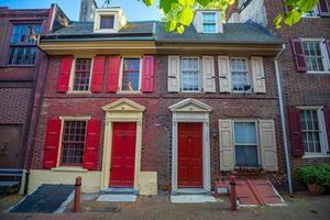 elfreth's steegje in de historische oude stad in Philadelphia, Pennsylvania foto