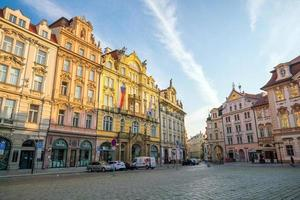 erfgoedgebouwen in de oude binnenstad van Praag in Tsjechië, 2018 foto