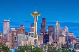 Seattle City Downtown Skyline Cityscape In De Staat Washington, Verenigde Staten