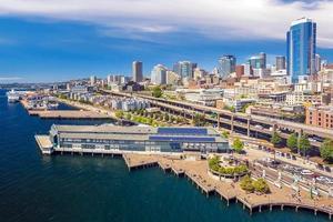 Seattle City Downtown Skyline Cityscape In De Staat Washington, Verenigde Staten