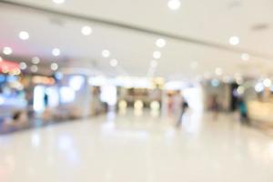 abstract vervagen prachtige luxe winkelcentrum interieur foto