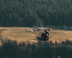 kitesurfen in zwitserland foto