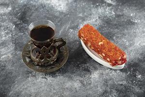 lekker Turks fruit met een kop hete thee