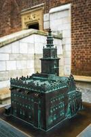 polen 2017- in brons gegoten miniatuur van Krakau in Polen foto