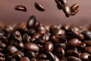close-up van koffiebonen foto