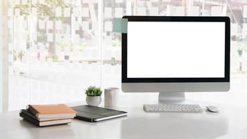 mock-up voor een desktopcomputer foto
